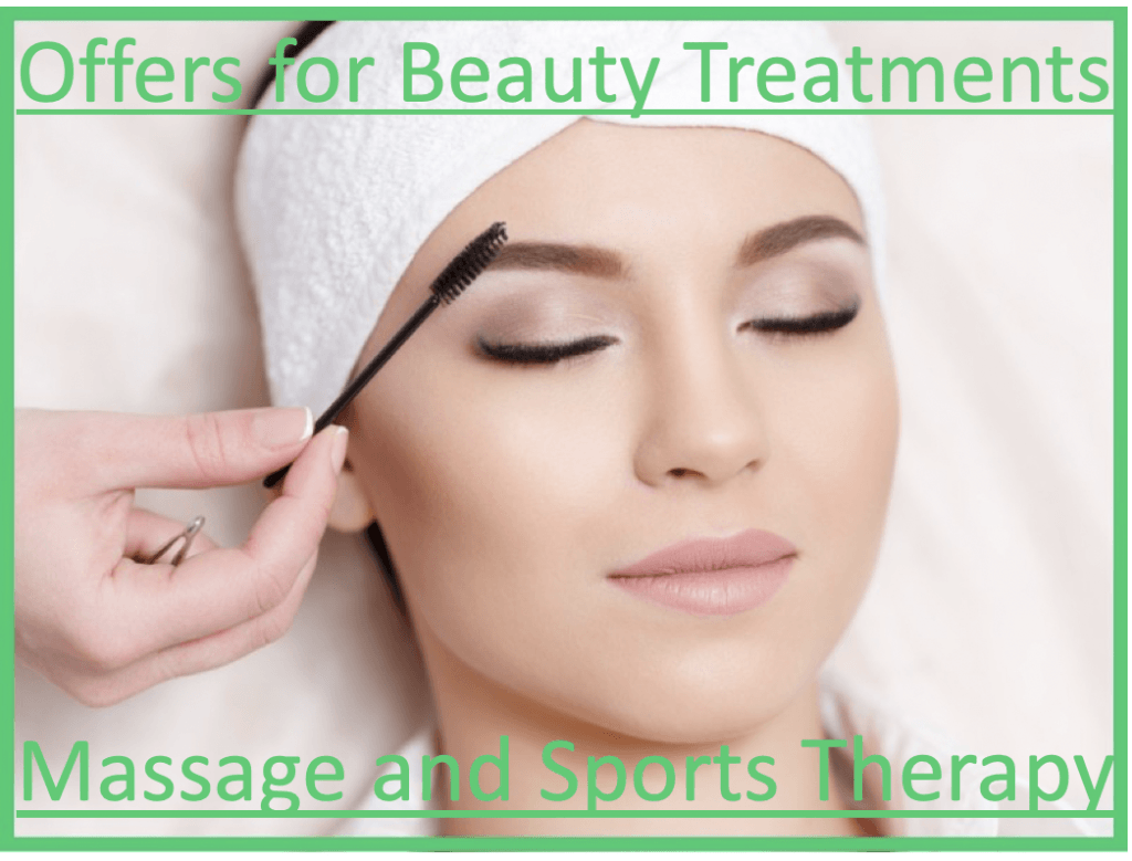 Special Offers with our Beauty and Massage Associates