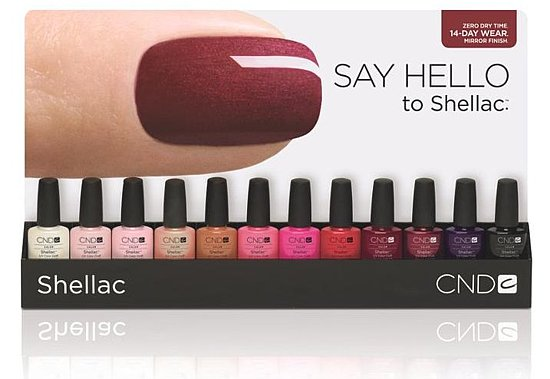 Shellac gel nails Cheshire